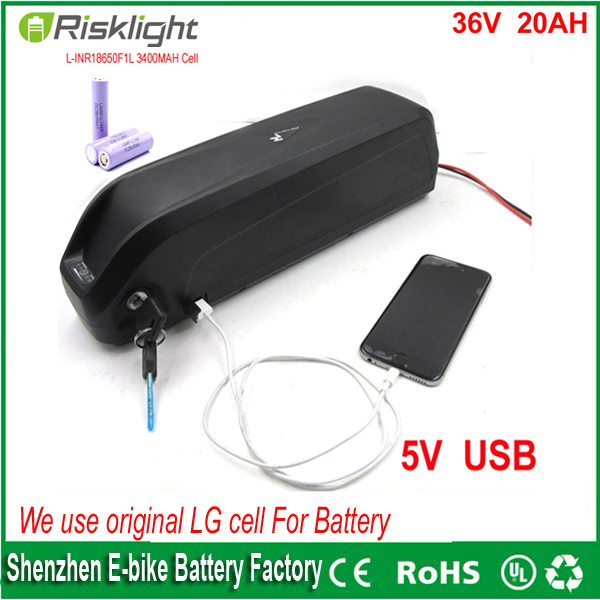 Free customex taxes 36v ebike lithium battery 36v 20ah hailong electric bicycle battery with USB Port +charger Use LG 18650 cell free customs taxes and shipping e bike hailong battery akku ebike lithium ion battery pack 36v 10ah with charger and bms