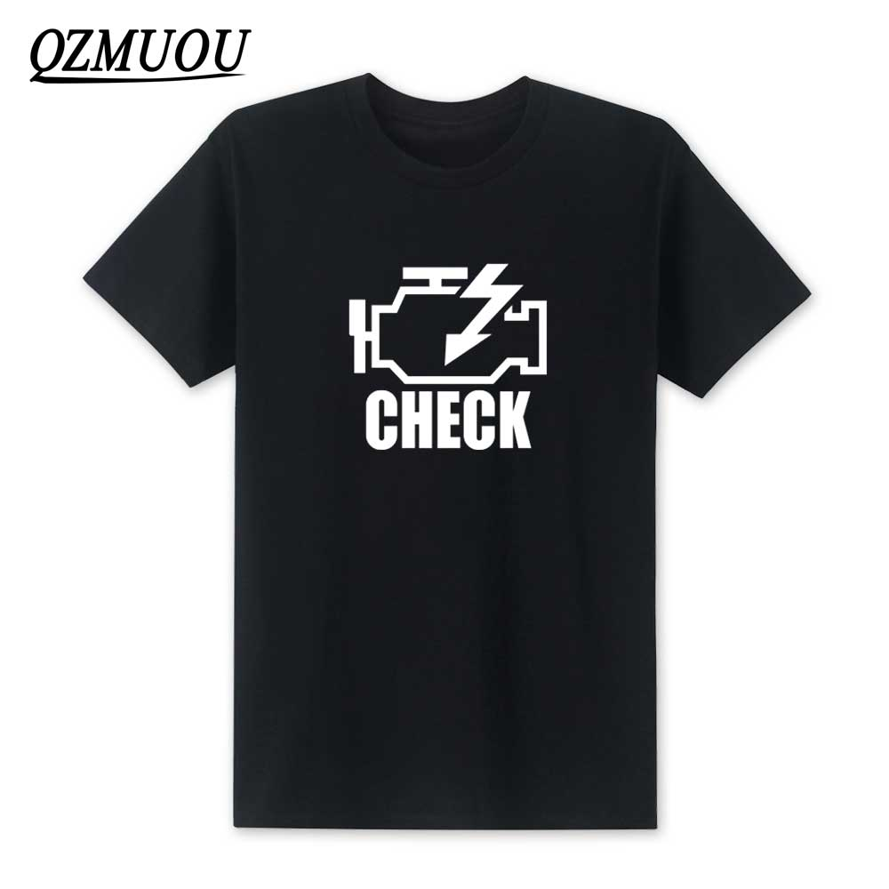 3e6931c1 2019 Fashion Check Engine Light T Shirts Men T Shirt New Summer Short  Sleeve O-