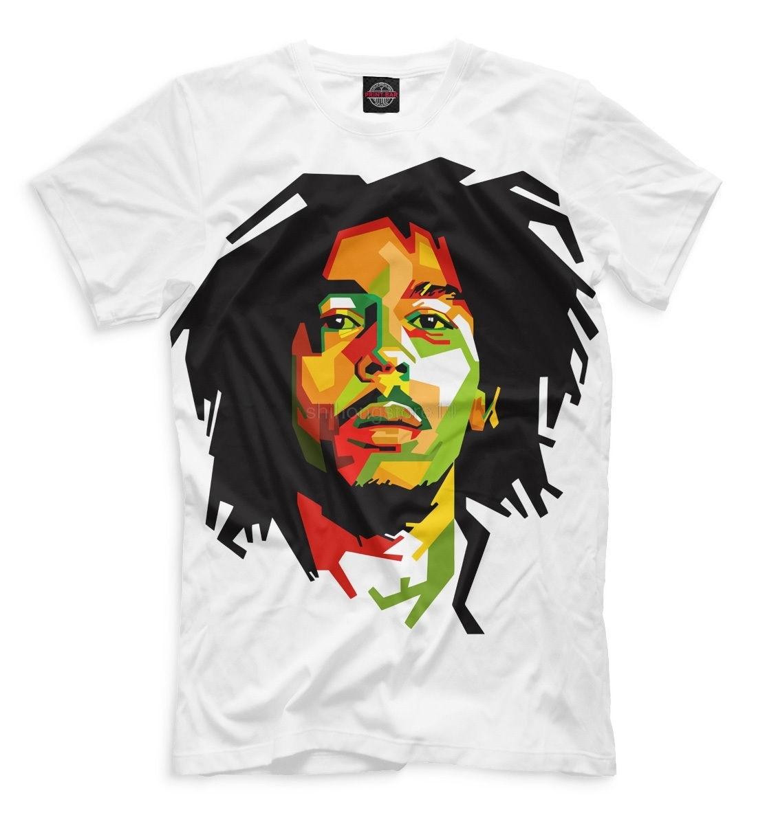 Rational 2019 New Summer Fashion Tee Shirt Bob Marley New T-shirt Rasta Flag Reggae Jamaica Cool Designe Hq Print