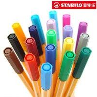 25colors/Lot Stabilo 88 Gel Pens 0.4mm Sketch Drawing Pen Writing Fineliner Super Fine Lines Caneta Stabilo Feutre Coloriage