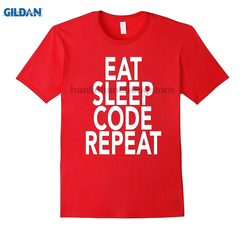 GILDAN Eat Sleep Code Repeat T-Shirt Gift For Programmer Coding