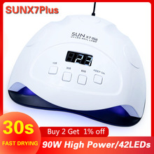 Lampe UV sèche ongles Gel pour manucure, mise à niveau SUN X7 Plus, 72/90W, lampe LED pour ongles, appareil de séchage du vernis à ongles