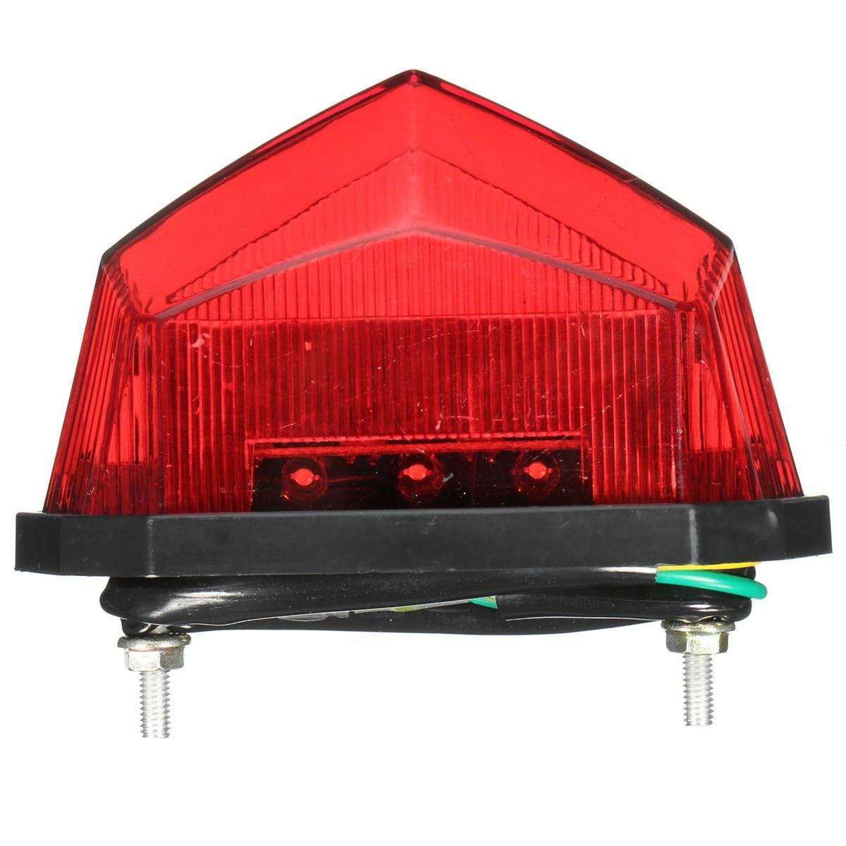 Mofaner Motorcycle ATV Tail Light 11 LEDs Motorbike License Plate Rear Tail Light Stop Brake Lamp