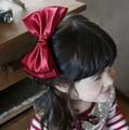 NEW SPRING Large bow santi bow ribbon shaped childresn kids hair clips headband girls ribbon hair bows princess hair barrettes
