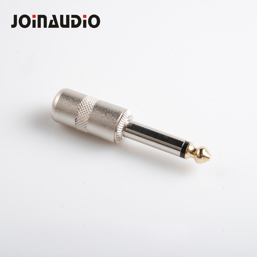 """1pc High Quality 1//4/"""" 6.35mm TS Mono Metal Male Plug Audio Cable Connector"""