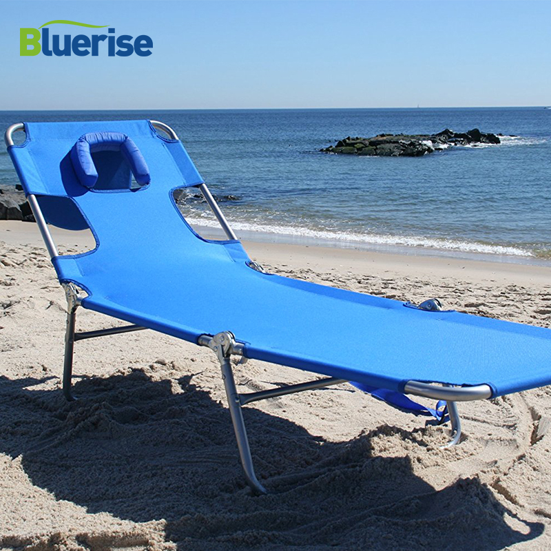 Outdoor Furniture Lightweight 3 Position Folding Beach Chaise Lounge Tanning Massage Reading Chair Weight Capacity 250lbs 113kg цена