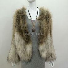 SF0130 2017 New Arrival Real Raccoon Fur Coat 100% Natural True Fur Coat Women Fashion Fur Coat
