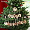 Wood Christmas Tree Ornament Kids Diy Craft Gifts New Year Christmas Decoration Supplies for Home