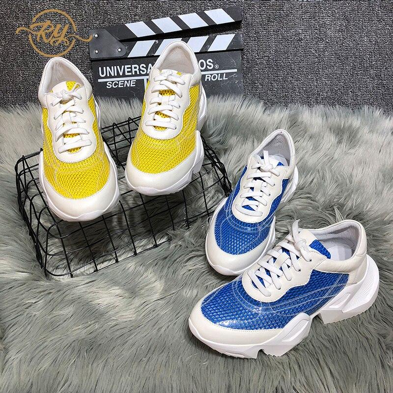 RY-RELAA femmes espadrilles de plate-forme de mode sneakers femmes designer sneakers femmes off blanc tm va chaussures En Cuir Véritable