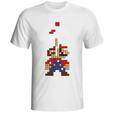 Super Mario T Shirt Hip Hop Print Anime T-shirt Funny Cool Design Unisex Tee