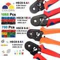 10SA HSC8 6-6 الذاتي قابل للتعديل من نوع صغير العقص ذو طيات 0.25-10mm2 مستقيم الألمانية كماشة أدوات يدوية النمط الأوروبي المكشكش 23-7