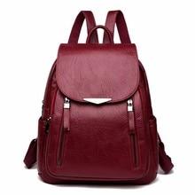 Женские кожаные рюкзаки 2019, женская сумка на плечо, женский рюкзак, винтажные школьные сумки для девочек, дорожная сумка, Новинка
