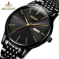 AESOP Dress Men Watch Men Automatic Mechanical Sapphire Crystal Wrist Wristwatch Stainless Steel Male Clock Relogio