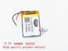 3.7V polymer lithium battery 502535 400mAh driving recorder has built-in lithium battery navigator MP3