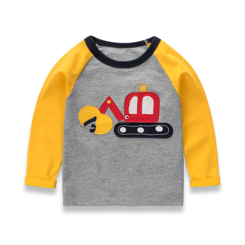 Kids print Clothing boy Autumn and Winter Sweater Children's car bottoming shirt cotton Hoodies boys Sweatshirts 4 Colors