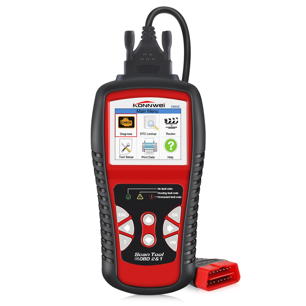 Image 2 - Factory Price OBDII EOBD CAN Scanner tool KW830 Auto Code Reader 