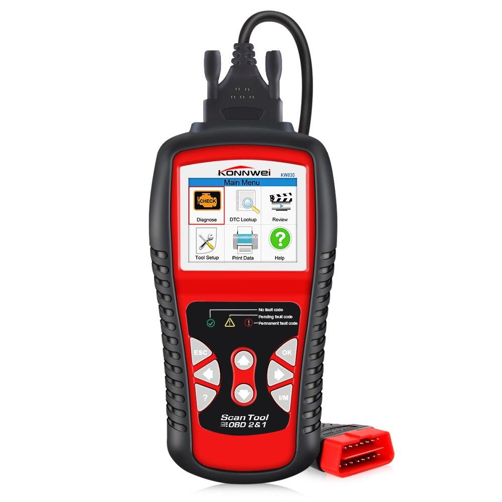 Image 2 - Заводская цена OBDII EOBD CAN Сканер Инструмент KW830 авто код ридер odb2 диагностическая работа для автомобиля Renault лучше, чем MaxiScan MS509 on AliExpress - 11.11_Double 11_Singles' Day