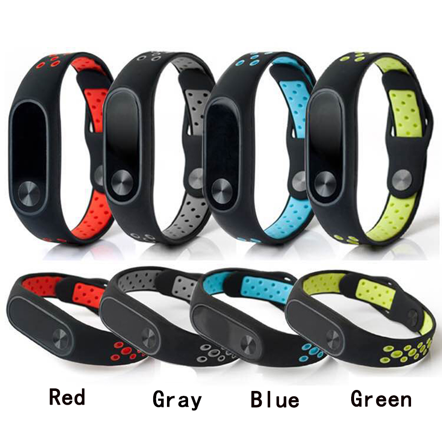 все цены на For Xiaomi Mi Band 2 Bracelet Silicone Strap Colorful Wristband Replacement SmartBand Accessories For Mi Band 2 онлайн