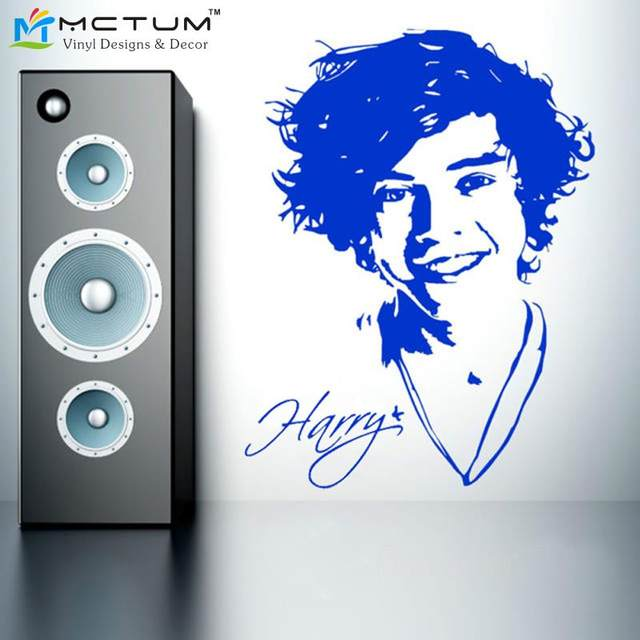 Harry Styles The Singer One Direction Wall Art Wall Stickers Image Decal  Paper PosterGraphic Size56*78cm Free Shipping