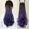 Выделите Красочные Женщины Наращивание Волос Хвостик Вьющиеся Стиль Синтетические Волосы Хвост Хвост Женщины Партия Аксессуары 22 Дюйм(ов)