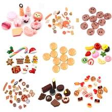 Милая мини-игрушка для игр, фруктовая еда, торт, конфеты, фрукты Гамбург, печенье, пончики, Миниатюрная игрушка для кукол, аксессуары, кухонные игровые игрушки, горячая распродажа