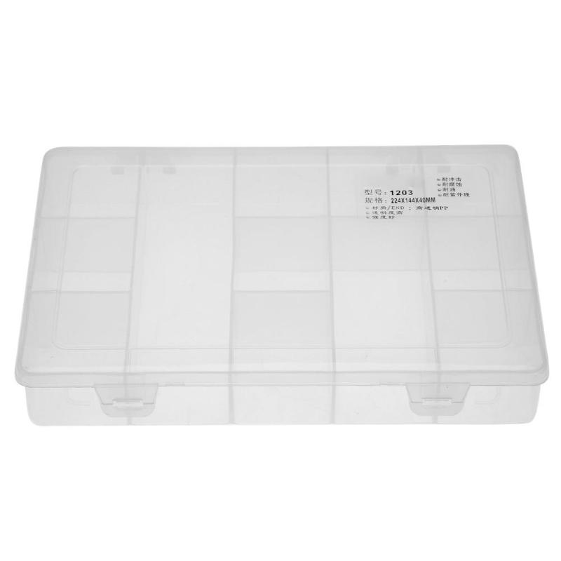 12 Grids Hardware Tool Organizer Case Container Plastic Transparent Storage Box Screw Component Holder Box