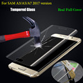 3D Curved Surface Full Screen Cover Coverage Explosion-proof Tempered Glass Film for Samsung Galaxy A3 A5 A7 2017 A320 A520 A720