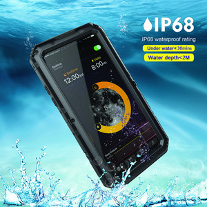 Image 4 - Doom Armor Waterproof Shockproof Metal Case + Silicone Protective Phone Cases For iPhone X XR XS Max 8 7 6 6S Plus Cover