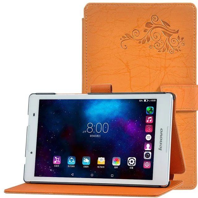 Tab3 8 TB3-850F/TB3-850M Floral Leather Case Smart Cover For lenovo tab 3 2 Tab2 A8-50F A8 50 Tablet Case Smart cover shell