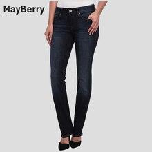 Мейберри Джинсы женские Джинсы Прямые ноги Средней Высоты джинсы premium Джинсовой коллекции 88167