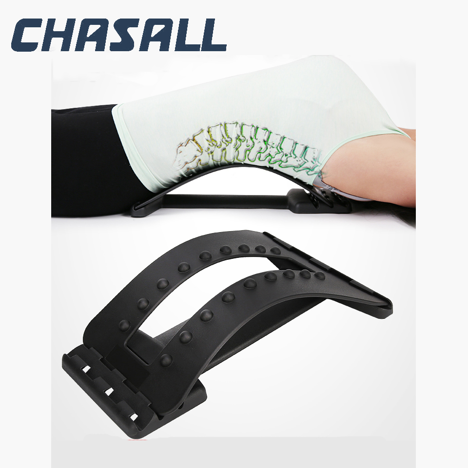 Chasall Back Massager Posture Corrector Back Support Waist Stretch Relieve Spine Pain Lumbar Chiropractic Stretcher Health Care