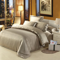 100 Mulberry Silk Bedding Set 19 Mm Seamless Super King Size Flat Fitted Sheets 4 PCs