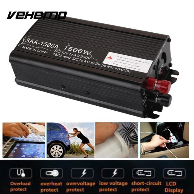 Vehemo Aluminium Alloy Car Inverter Power Inverter Automobile ...