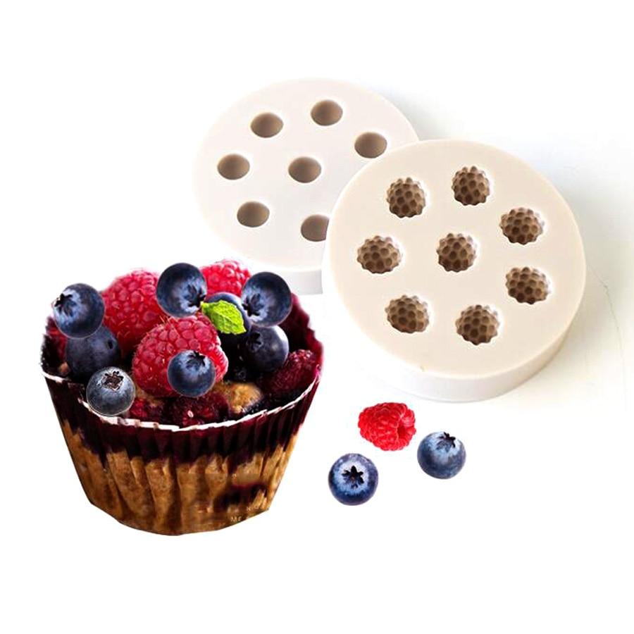 1 шт. черника, клюква силиконовые торт Силиконовая форма украшения торта инструменты форма для мыла B044/B045