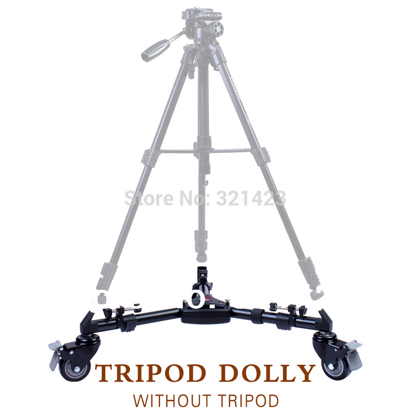 Hot Yunteng VCT-901 Photography Equipment Professional Foldable Aluminium Tripod Stand Dolly Wheels With Handle hot sale yt 900 professional foldable tripod dolly for photo video yt 900lighting lockable 3 wheels yunteng 900