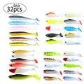 Мередит 32 шт. 4 типа мягкие пластиковые приманки для рыбалки искусственные приманки для всех видов рыболовных установок Бесплатная доставк...