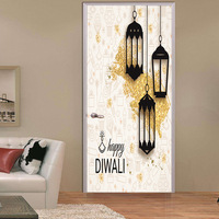3D Sticker Decal Art Decor Vinyl Door Poster Removable Mural Religious Blessings Lights Muslim Ramadan