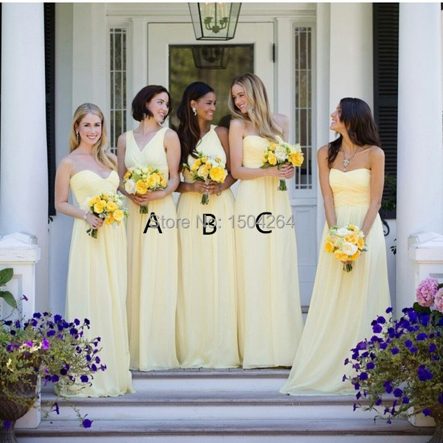 Light Yellow Bridal Party