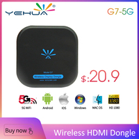 TV Stick G7 5G Wireless WiFi Display TV Dongle Receiver 1080P HD Dual Band Wifi Miracast Airplay DLNA Mirroring Support Android