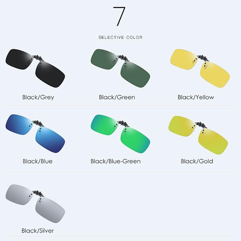 2019 Polarized Lens Clip on Sunglasses Over Men Retro Sun glasses Flip Up Glasses for Male 100 UV400 Protection Driving in Men 39 s Sunglasses from Apparel Accessories