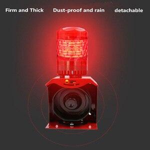 Image 5 - 12V 24V 220V Industrial Horn Siren Emergency Sound and Light Alarm Red LED Flashing Strobe Warning Light with Remote Control