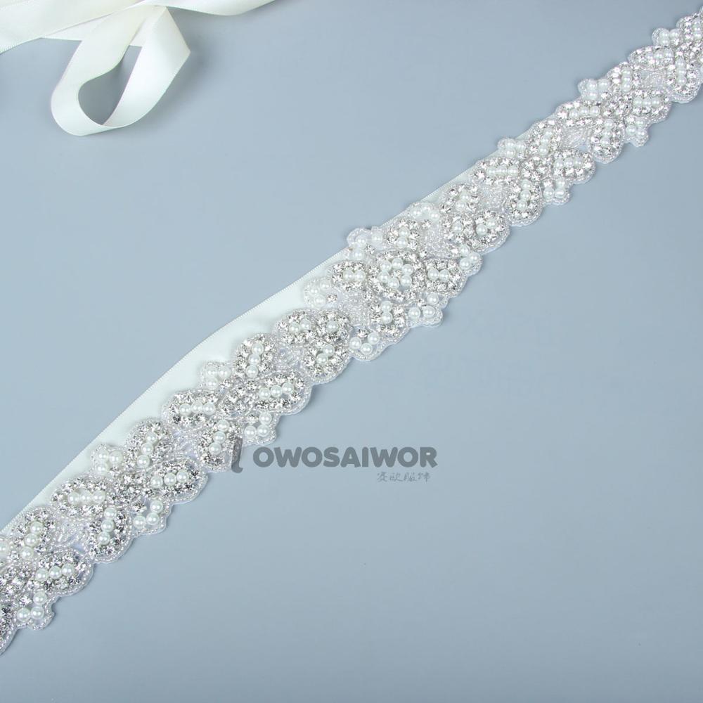 Factory Handmade Rhinestone Wedding Belt Thin Wedding Bridal Dress Belt Sashes Long Narrow Wedding Dress Accessories