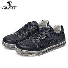 QWEST/брендовые кожаные стельки; дышащие детские спортивные ботинки с застежкой-липучкой; Размеры 33-38; детские кроссовки для мальчиков; 91P-XY-1176