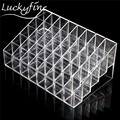 1ps 40 Grids Clear Acrylic Lipstick Holder Trapezoid Display Stand Cosmetic Organizer Makeup Case Nail Polish Storage Box