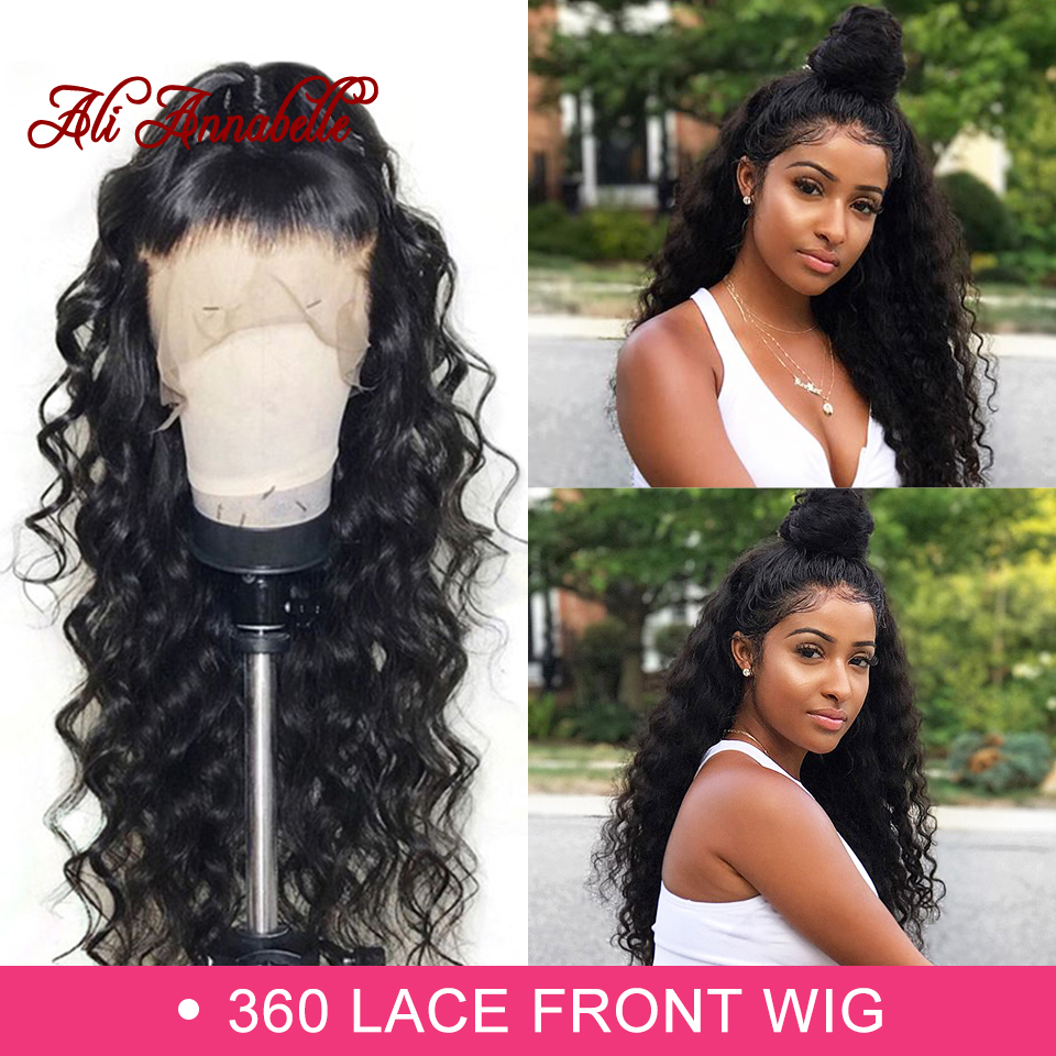 360 Lace Front Human Hair Wigs Brazilian Loose Wave Human Hair Lace Frontal Wig 180 Density