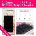 0.10 New Curl J B C 2 trays Mink Individual Fake False Eyelashes Natural Soft Black Eyelash Extension Free Shipping