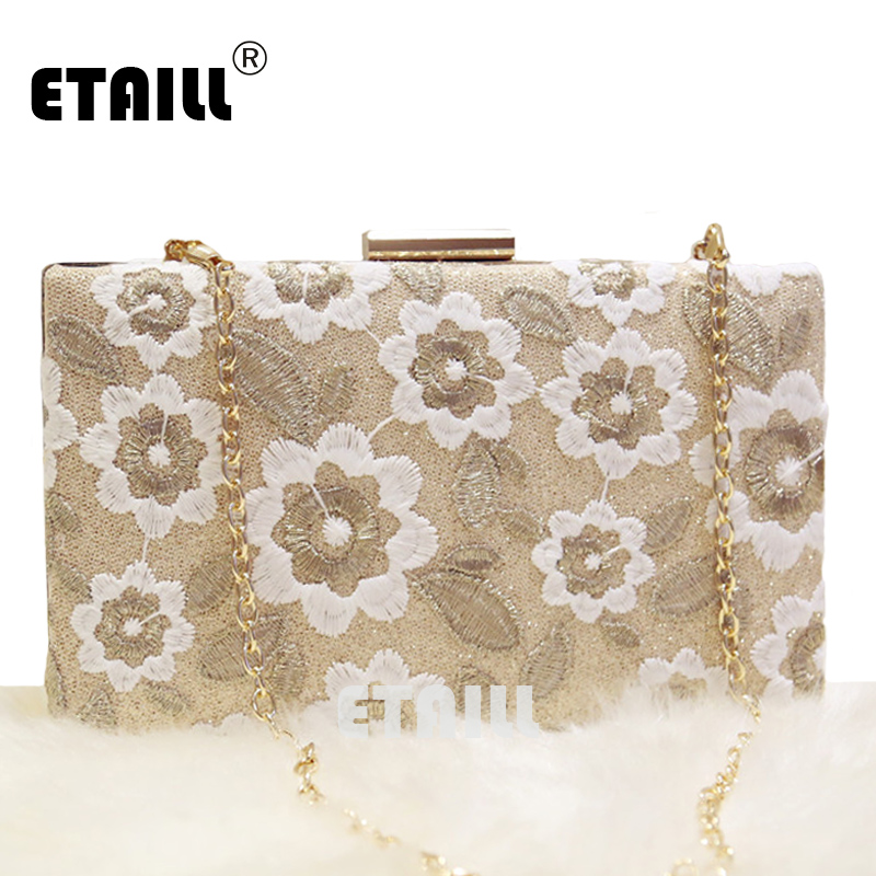 ETAILL 2017 National Vintage Embroidery Shoulder Bag Women Floral Embroidered Handbags Ladies Small Lock Crossbody Bag Clutches no odor waterproof durable cargo mat liner boot carpets luggage mat rubber special car trunk mats for audia1