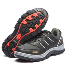 AC12005 Safety Shoes Mens Steel Toe Covers Working Breathable labor Insurance Puncture Proof Protection Boots