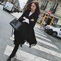Мода Шерстяного Войлока Дамы Кистями Шарф Осень Зима Теплая Черный Толстый Длинный Шаль Пашмины Женщины Шарфы F048-2