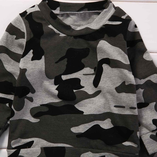 2pcs  new baby clothing set Toddler Infant Camouflage  Baby Boy Girl Clothes T-shirt Tops+Pants Outfits Set 4